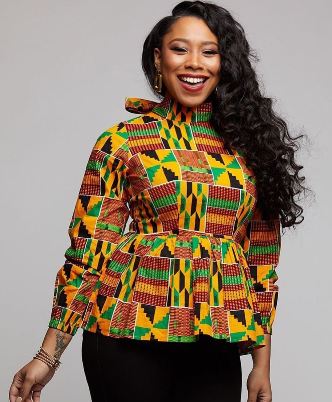 PEPLUM ANKARA 2020 BLOUSE, AFRICAN PRINT STYLES FOR YOU. 1