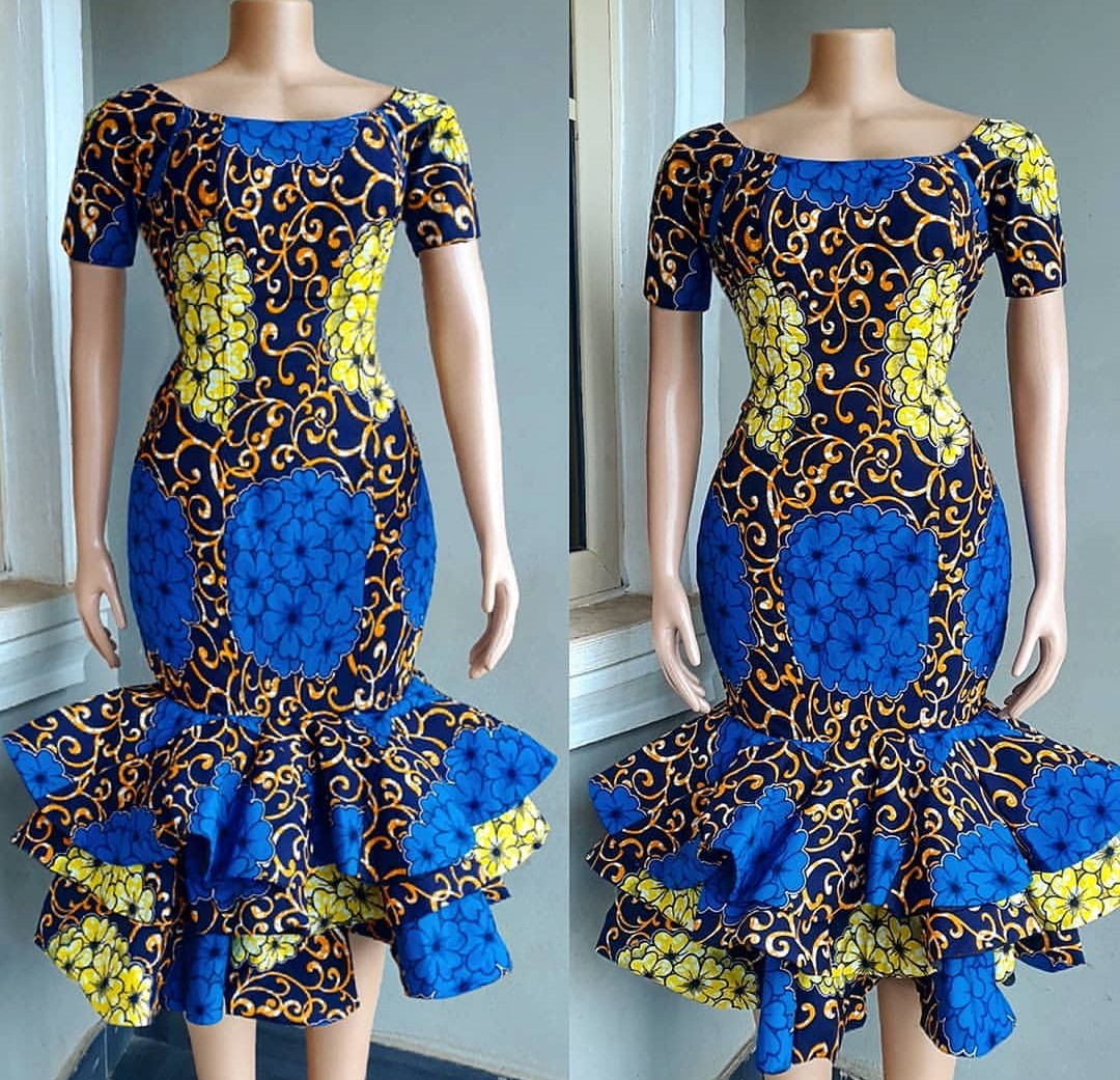 2020 CHIC ANKARA STYLES: GOWN STYLES FOR BEAUTIFUL LADIES! 1