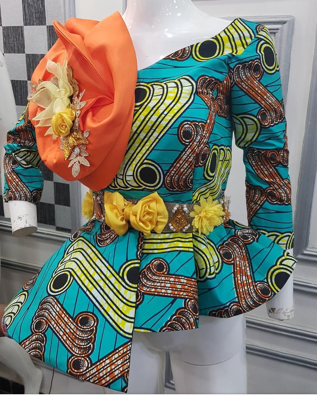 PEPLUM ANKARA 2020 BLOUSE, AFRICAN PRINT STYLES FOR YOU. 6