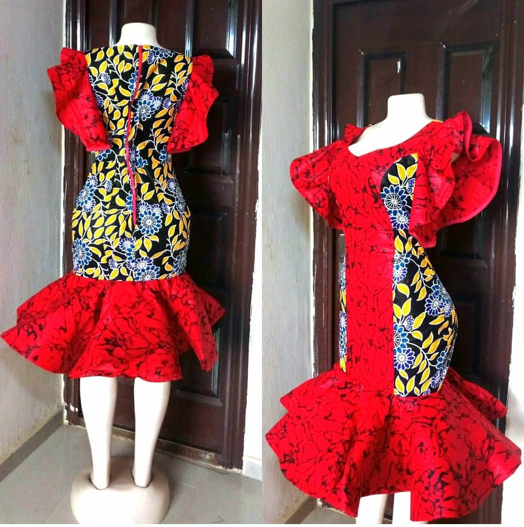 ANKARA GOWN 2020 STYLES MAKES THE LADY SLIMMER AND TALLER! 4