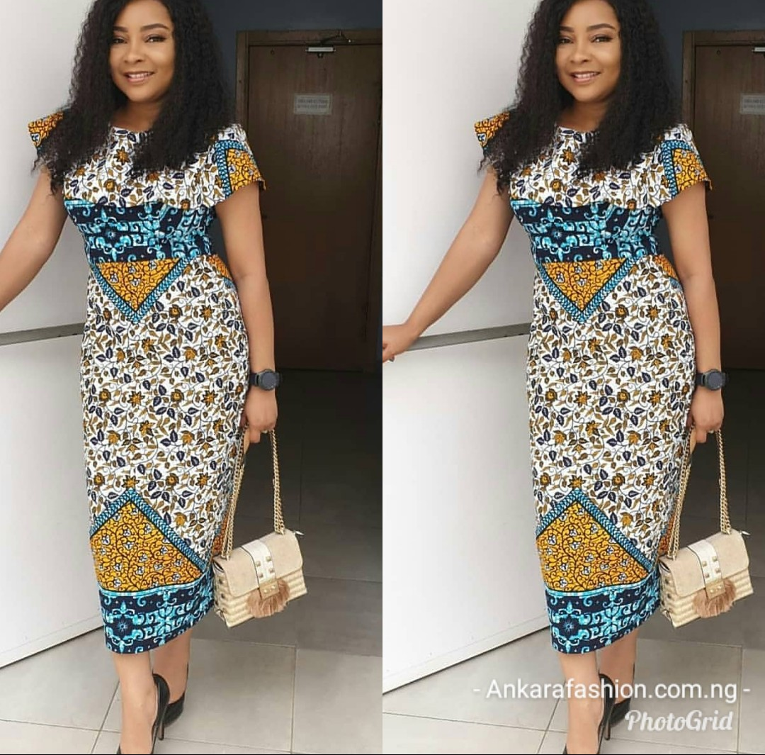 ANKARA GOWN 2020 STYLES MAKES THE LADY SLIMMER AND TALLER! 2