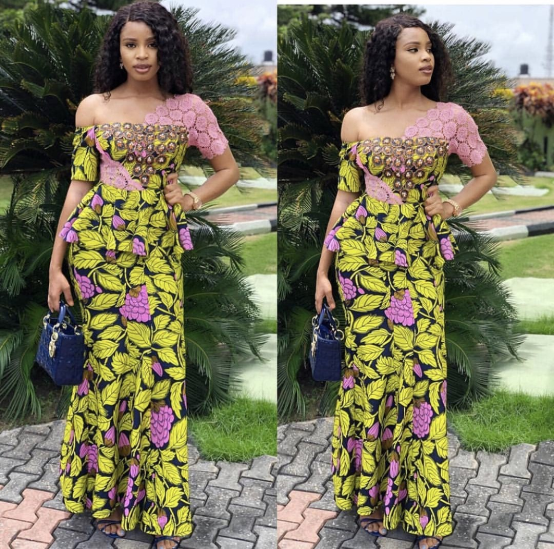 2020 LONG SLIM DRESSES FOR AFRICAN LADY SUITABLE FOR ALL EVENTS! 3