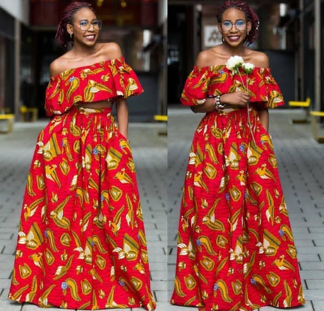 AFRICAN FABRICS 2020 : OPEN SHOULDERS  ANKARA BLOUSE FOR NEW LOOK 5