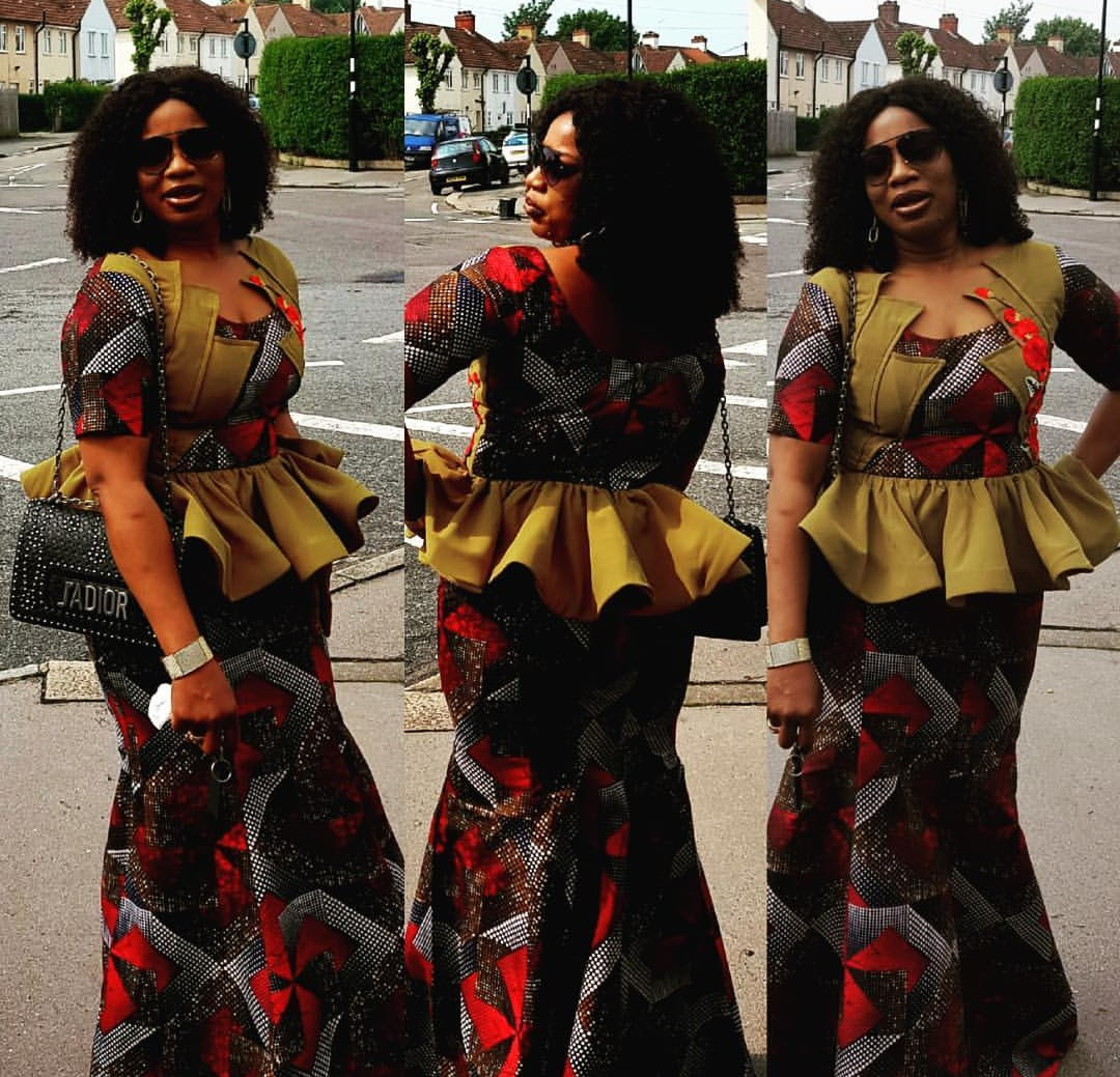 AFRICAN FABRICS 2020 : OPEN SHOULDERS  ANKARA BLOUSE FOR NEW LOOK 3