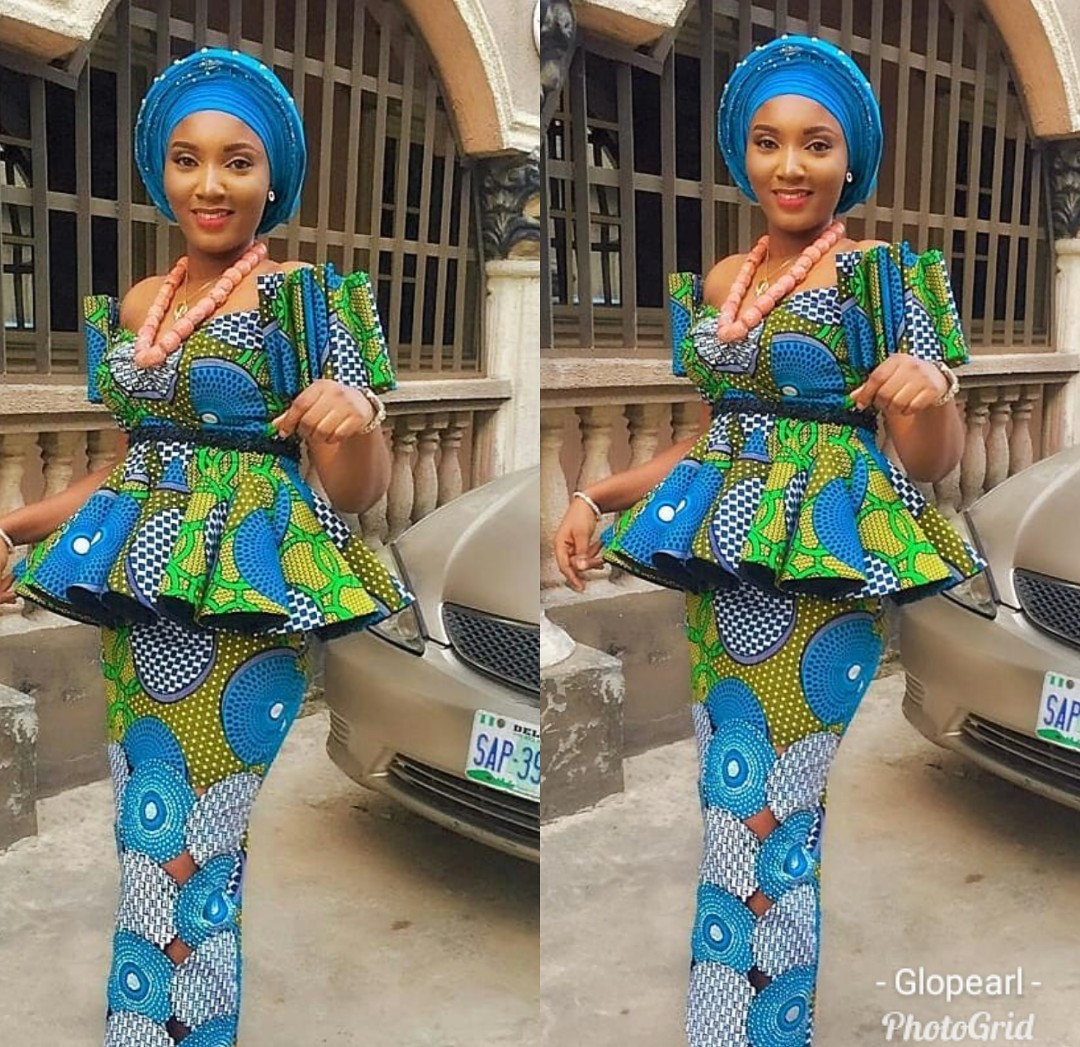 AFRICAN FABRICS 2020 : OPEN SHOULDERS  ANKARA BLOUSE FOR NEW LOOK 2