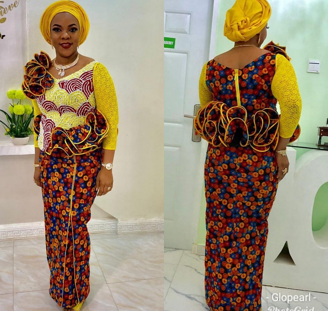 AFRICAN FABRICS 2020 : OPEN SHOULDERS  ANKARA BLOUSE FOR NEW LOOK 1