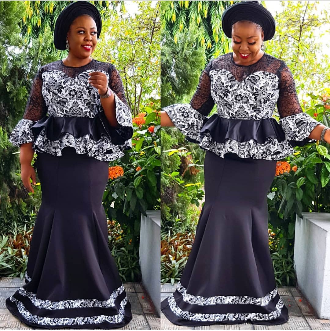 2020 NIGERIAN DESIGNS, NEW LACE SKIRT&BLOUSE STYLES FOR YOU! 5