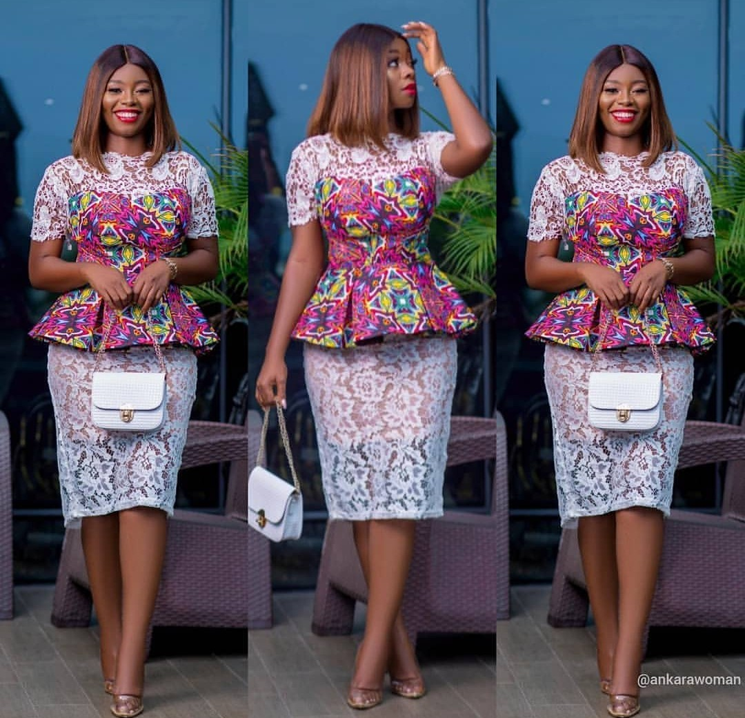 2020 NIGERIAN DESIGNS, NEW LACE SKIRT&BLOUSE STYLES FOR YOU! 4