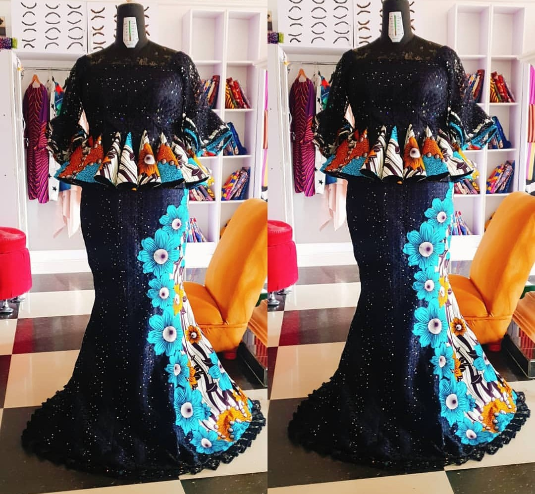 2020 NIGERIAN DESIGNS, NEW LACE SKIRT&BLOUSE STYLES FOR YOU! 2