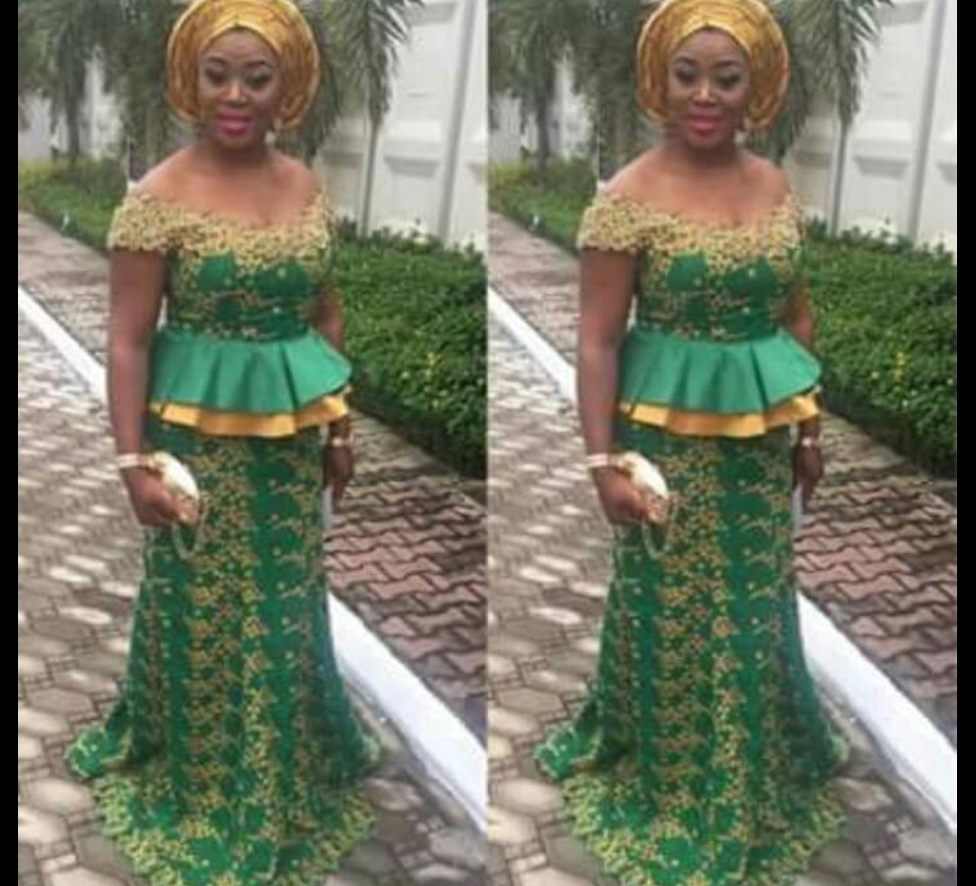 2020 NIGERIAN DESIGNS, NEW LACE SKIRT&BLOUSE STYLES FOR YOU! 1