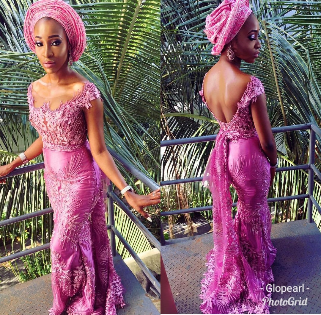 2020 DESIGNS- LATEST NIGERIAN ASO-EBI STYLE DRESS FOR LADIES!!! 4