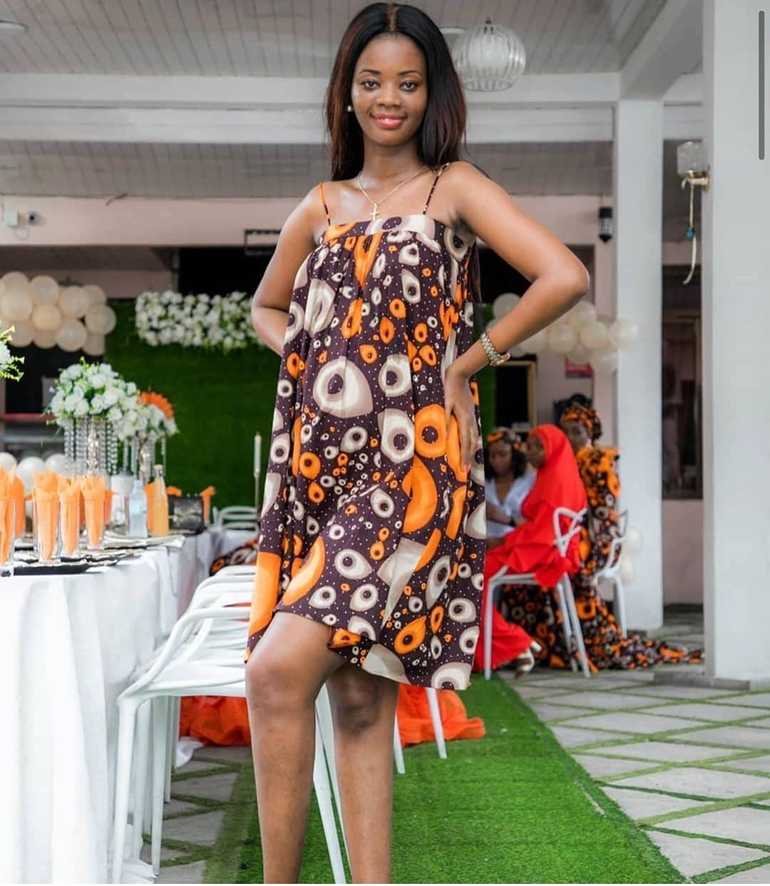 TRENDY FLORAL DRESSES 2020: MIX OF STYLISH ANKARA DRESSES 3