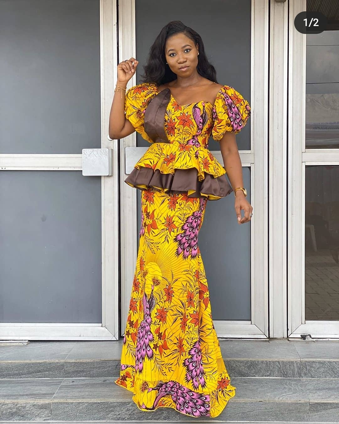 FASHIONABLE LONG MAXI DRESS ANKARA STYLES2020 1