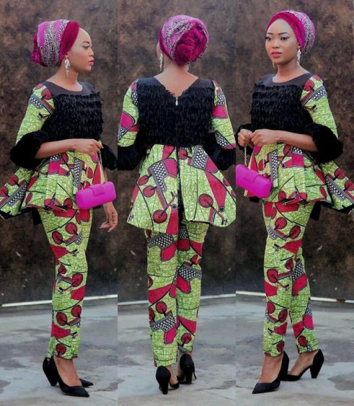 CURRENT ANKARA PANTS:LATEST FASHION TRENDS FOR WOMEN 7