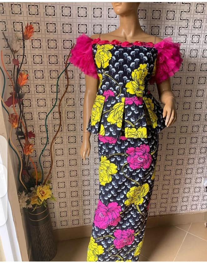 FASHIONABLE LONG MAXI DRESS ANKARA STYLES2020 7