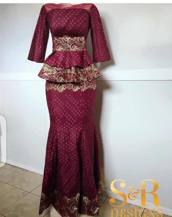 ANKARA MAXI DRESSES LONG FASHIONABLE SKIRT2020 5