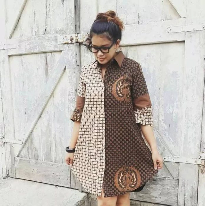 ANKARA SHIRT DRESS, SIMPLE STYLE,BUT PRACTICAL&ATTRACTIVE GOWNS STYLE 9