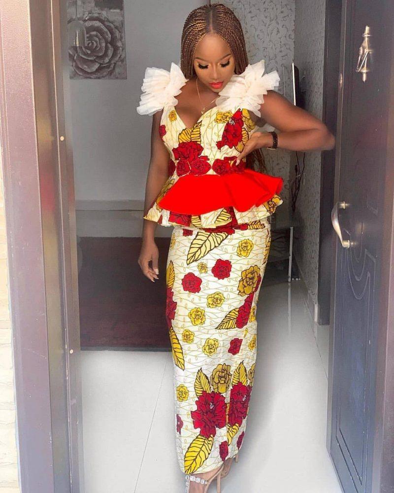 BEAUTIFUL ANKARA DRESSES WITH MODERN FABRICS 6