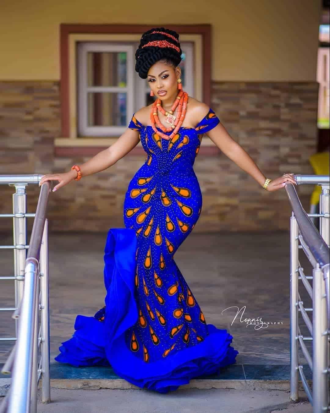 BEAUTIFUL ANKARA DRESSES WITH MODERN FABRICS 5